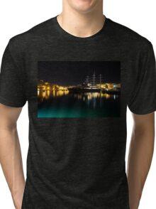 Reflecting on Malta - Vittoriosa and Senglea Megayachts Tri-blend T-Shirt