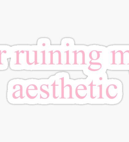 ur ruining my aesthetic Sticker