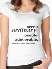 ordinary people Women's Fitted Scoop T-Shirt