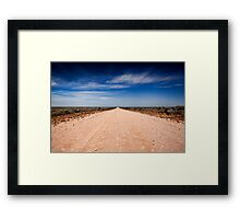 Road to Mungo - Mungo NP, NSW Framed Print
