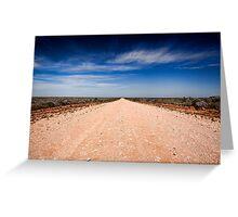 Road to Mungo - Mungo NP, NSW Greeting Card