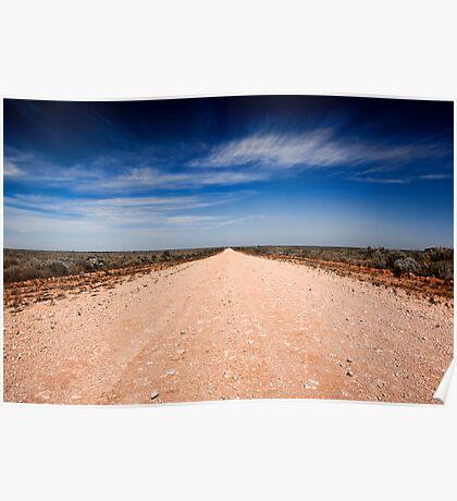 Road to Mungo - Mungo NP, NSW Poster