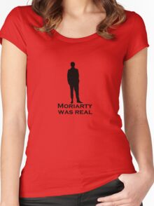 Moriarty was Real (Silhouette) Women's Fitted Scoop T-Shirt