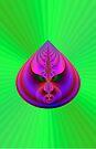 Teardrop on Green by Objowl
