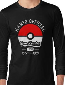 KANTO OFFICIAL POKEMON GYM Long Sleeve T-Shirt