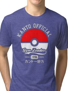 KANTO OFFICIAL POKEMON GYM Tri-blend T-Shirt