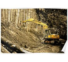 Forestry machine 1 Poster