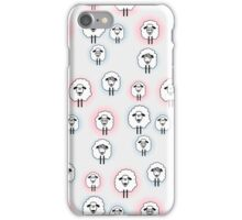 Vector pattern with cute sheep iPhone Case/Skin