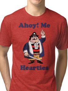 Pirate Pugwash - Ahoy Me Hearties Tri-blend T-Shirt