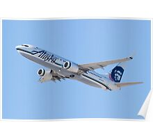 N534AS Alaska Airlines, Boeing 737-890 Poster