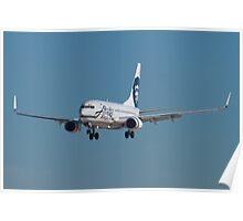 N609AS Alaska Airlines Boeing 737-790 Poster
