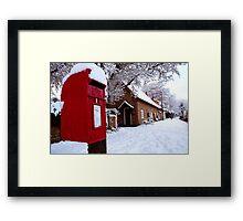 Freezing Post Framed Print