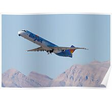 N415NV Allegiant Air, McDonnell Douglas MD-82 Poster