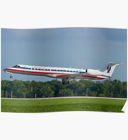 N939AE, American Eagle, Embraer EMB-145LR Poster