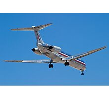 Rear shot of N487AA American Airlines, McDonnell Douglas DC-9 Photographic Print
