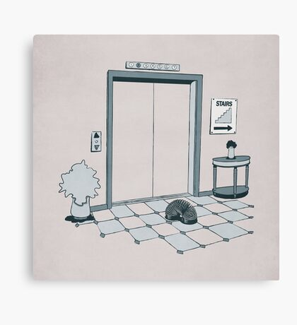 Elevator Slinky Canvas Print