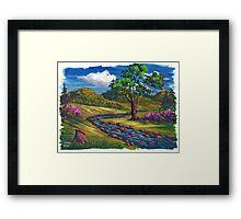 Spring Run in Acrylic Framed Print