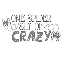 One spider shy of CRAZY Photographic Print