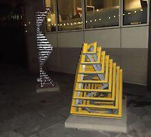 2 x Sculptures/Millenium Mile -(030112)- digital photograph by paulramnora