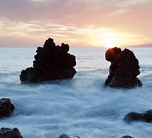 Frothy seas and rocks by Phil  Crean