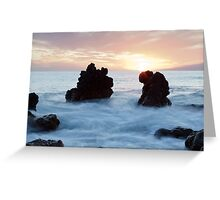 Frothy seas and rocks Greeting Card