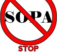 STOP SOPA by Maxdoggy