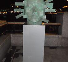 Blue Sculpture(1 of 2)/Millienium Mile Walk -(030112)- Digital photo by paulramnora
