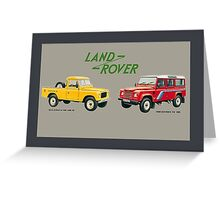 Land Rover 'composite' advert ('Saloon' Landy's) T-shirt etc... Greeting Card