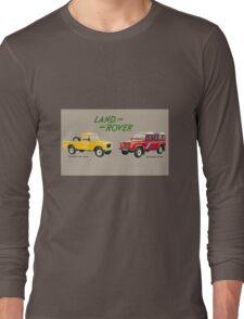 Land Rover 'composite' advert ('Saloon' Landy's) T-shirt etc... Long Sleeve T-Shirt
