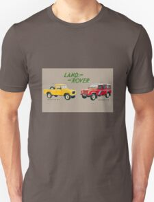 Land Rover 'composite' advert ('Saloon' Landy's) T-shirt etc... T-Shirt