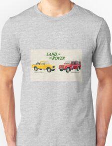 Land Rover 'composite' advert ('Saloon' Landy's) T-shirt etc... Unisex T-Shirt