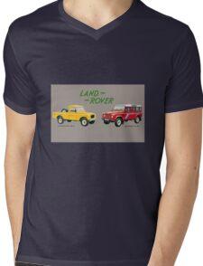 Land Rover 'composite' advert ('Saloon' Landy's) T-shirt etc... Mens V-Neck T-Shirt