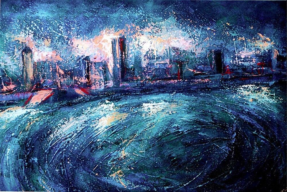 Montreal at Night by ivDAnu