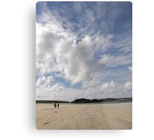 Walking Keadue Beach Donegal Ireland Metal Print