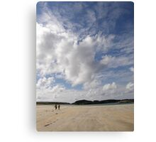 Walking Keadue Beach Donegal Ireland Canvas Print