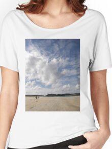 Walking Keadue Beach Donegal Ireland Women's Relaxed Fit T-Shirt