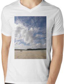 Walking Keadue Beach Donegal Ireland Mens V-Neck T-Shirt
