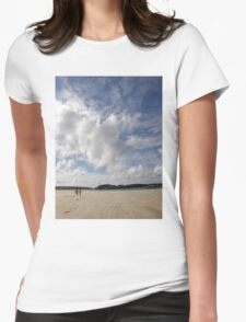 Walking Keadue Beach Donegal Ireland Womens Fitted T-Shirt