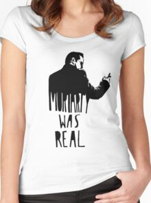 Moriarty Was Real - Black Women's Fitted Scoop T-Shirt