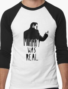 Moriarty Was Real - Black Men's Baseball ¾ T-Shirt