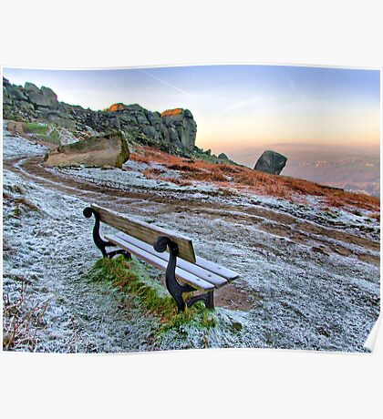 Cow and Calf Rocks Ilkley Moor - HDR Poster