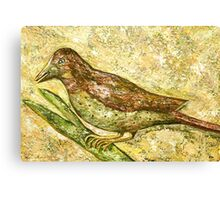 A bird the surprise visitor Canvas Print