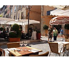 A Place To Eat In Grasse Photographic Print