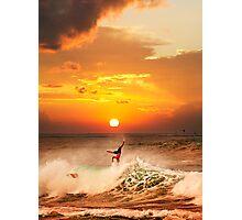 Sunset Surfing Photographic Print