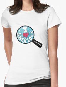 I HEART SHERLOCK Womens Fitted T-Shirt