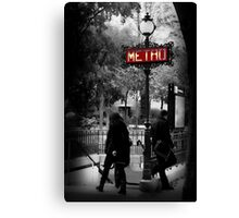Paris Metro Entrance-Paris, France Canvas Print