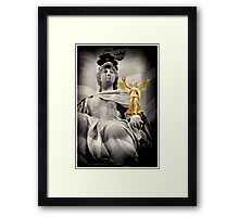 Holding victory-Paris, France Framed Print