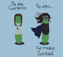 Courgette and The Masked Zucchini: double-life of a vegetable superhero One Piece - Short Sleeve