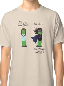 Courgette and The Masked Zucchini: double-life of a vegetable superhero Classic T-Shirt