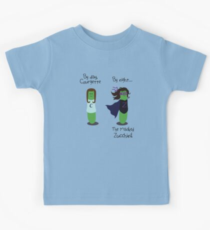 Courgette and The Masked Zucchini: double-life of a vegetable superhero Kids Tee